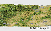 Satellite Panoramic Map of Privas