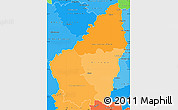 Political Shades Simple Map of Ardeche