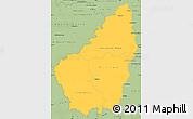 Savanna Style Simple Map of Ardeche