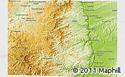 Physical 3D Map of Tournon-sur-Rhône