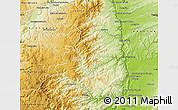 Physical Map of Tournon-sur-Rhône