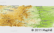 Physical Panoramic Map of Tournon-sur-Rhône
