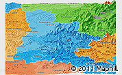Political Shades Panoramic Map of Drôme