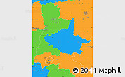 Political Simple Map of Drôme