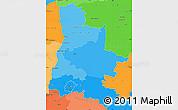 Political Shades Simple Map of Drôme