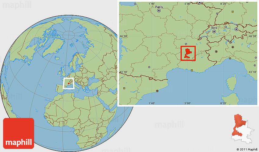 Savanna Style Location Map of Valence
