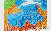 Political Shades 3D Map of Haute-Savoie