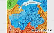 Political Shades Map of Haute-Savoie