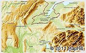 Physical 3D Map of Saint-Julien-en-Genevois