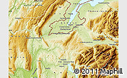 Physical Map of Saint-Julien-en-Genevois
