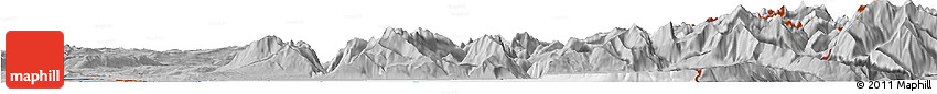 Gray Horizon Map of Thonon-les-Bains