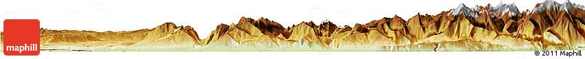 Physical Horizon Map of Thonon-les-Bains