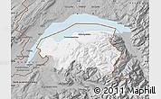 Gray Map of Thonon-les-Bains
