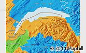 Political Map of Thonon-les-Bains