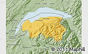 Savanna Style Map of Thonon-les-Bains