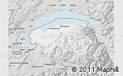 Silver Style Map of Thonon-les-Bains