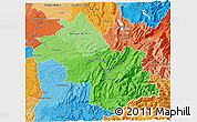 Political Shades 3D Map of Isere