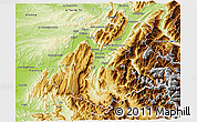 Physical 3D Map of Grenoble