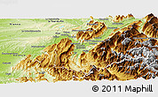 Physical Panoramic Map of Grenoble