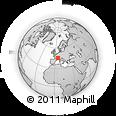 Outline Map of La Tour-du-Pin