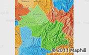 Political Shades Map of Isere