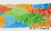 Political Shades Panoramic Map of Isere