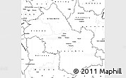 Blank Simple Map of Isere