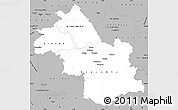 Gray Simple Map of Isere