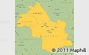 Savanna Style Simple Map of Isere
