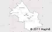 Silver Style Simple Map of Isere, cropped outside