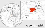 Blank Location Map of Rhône-Alpes