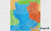 Political Shades 3D Map of Loire