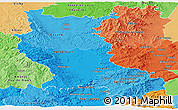 Political Shades Panoramic Map of Loire