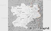 Gray Map of Rhône-Alpes
