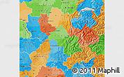 Political Map of Rhône-Alpes