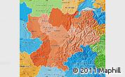 Political Shades Map of Rhône-Alpes