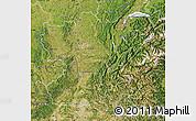 Satellite Map of Rhône-Alpes