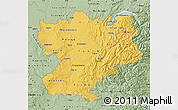Savanna Style Map of Rhône-Alpes