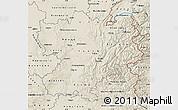 Shaded Relief Map of Rhône-Alpes