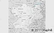 Silver Style Map of Rhône-Alpes
