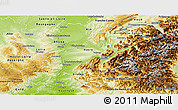 Physical Panoramic Map of Rhône-Alpes