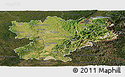 Satellite Panoramic Map of Rhône-Alpes, darken