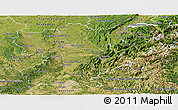 Satellite Panoramic Map of Rhône-Alpes
