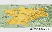 Savanna Style Panoramic Map of Rhône-Alpes
