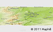 Physical Panoramic Map of Lyon