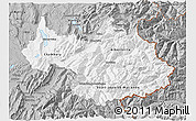 Gray 3D Map of Savoie
