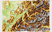 Physical 3D Map of Savoie
