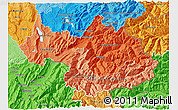 Political Shades 3D Map of Savoie
