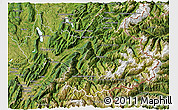 Satellite 3D Map of Savoie