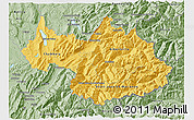 Savanna Style 3D Map of Savoie